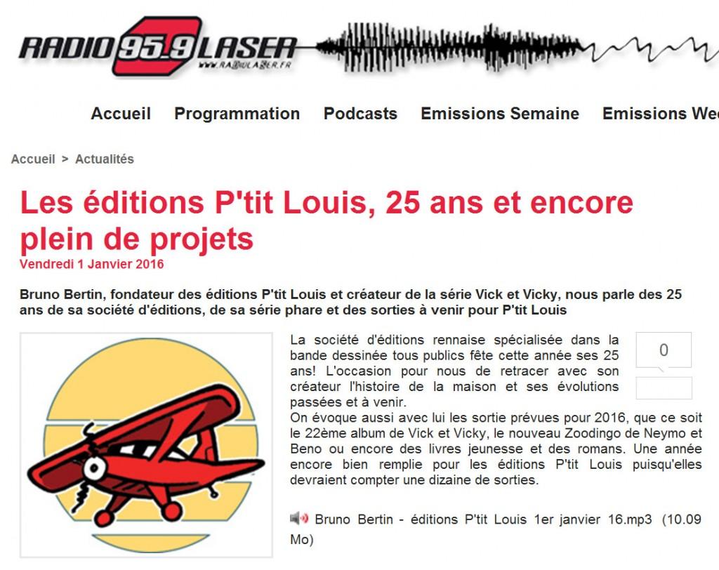 Bruno Bertin est sur Radio Laser, en interview