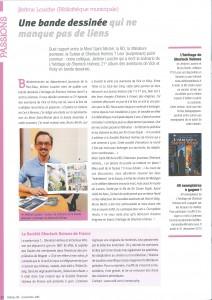 Magazine Reflets de Lyon avec article de Jérôme Louiche, scénariste de Vick et Vicky, bibliotheque de lyon