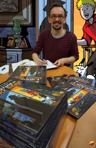 Jérôme Louiche scénariste BD de Vick et Vicky, à la bibliothèque de Lyon